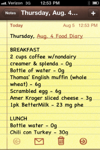 iphone-notes-food-journal